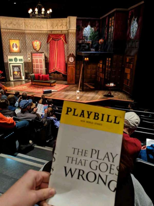 New World Stages - Stage 4, row: J, seat: 6