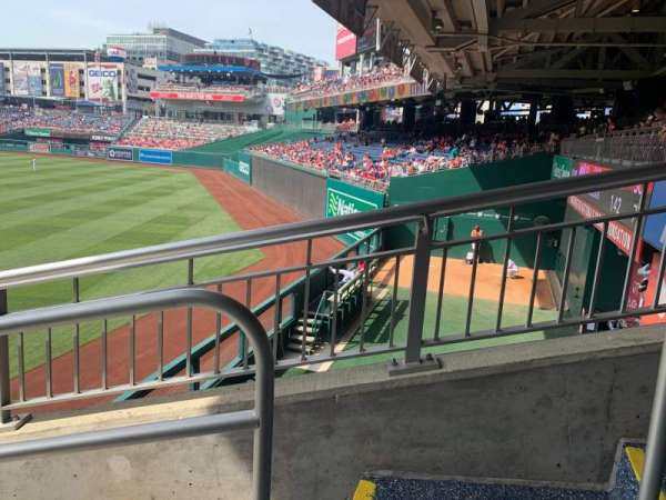 Nationals Park, section: 137, row: LL, seat: 1