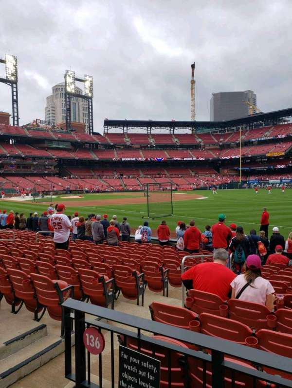 Busch Stadium, section: 136, row: 1, seat: 3