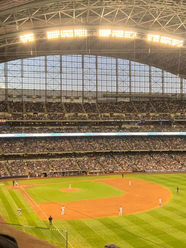 Miller Park, section: 307, row: 4, seat: 4