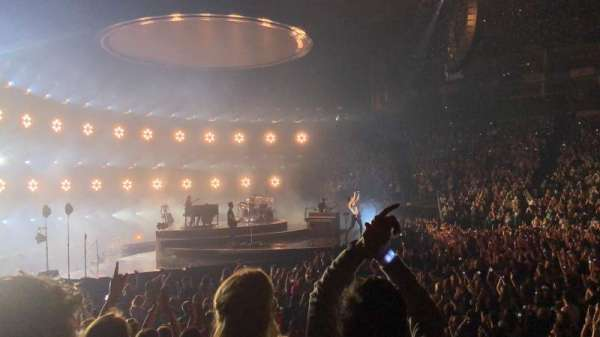 The O2 Arena, section: 101, row: H, seat: 43