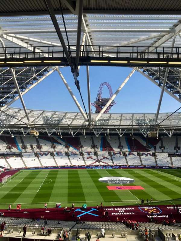 London Stadium, section: 206, row: 57, seat: 483