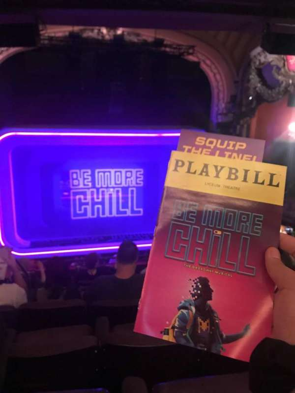 Lyceum Theatre (Broadway), section: Mezzanine C, row: H, seat: 111