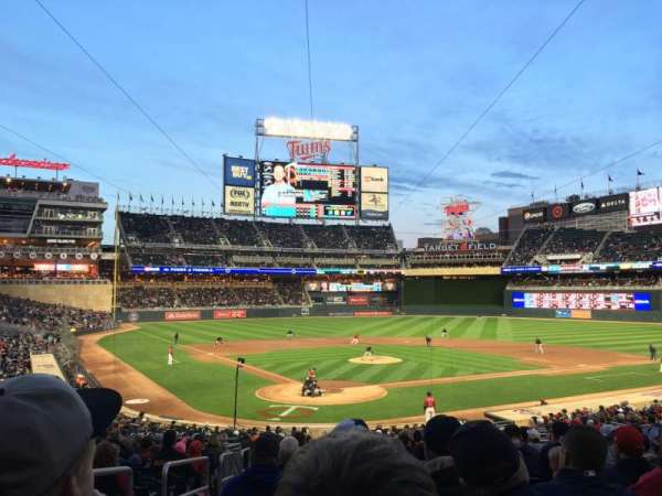 Target Field, section: 112, row: 15, seat: 12