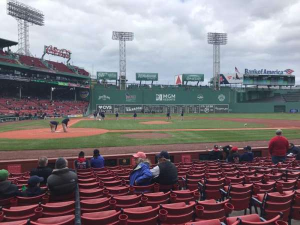 Fenway Park, section: Field Box 36, row: J, seat: 4