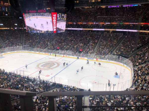 T-Mobile Arena, section: 208, row: A, seat: 7