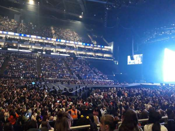 The O2 Arena, section: 111, row: K, seat: 335