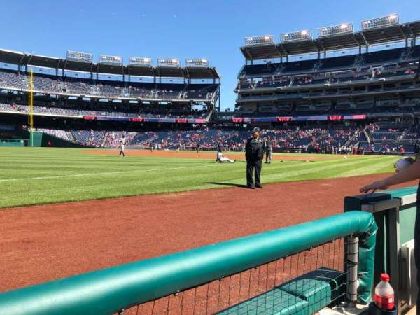 Nationals Park, section: 111, row: A, seat: 4