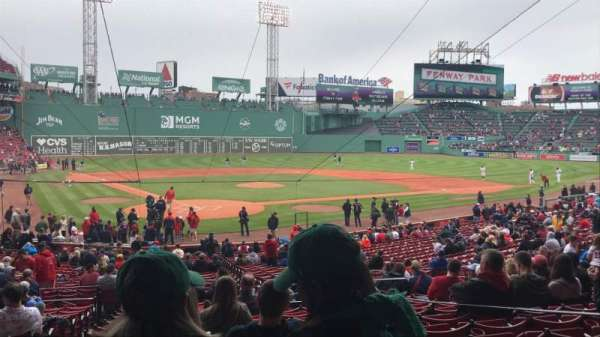 Fenway Park, section: Grandstand 19, row: 2, seat: 5,6,7
