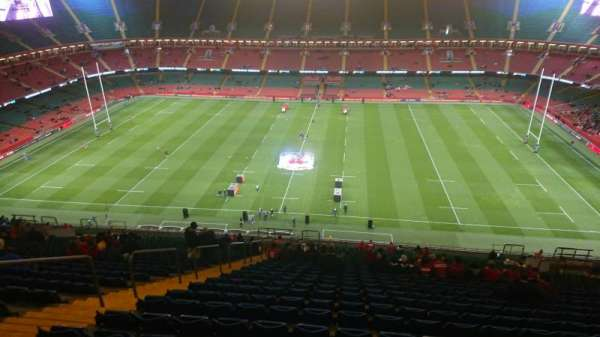 Principality Stadium, section: U8, row: 33, seat: 07