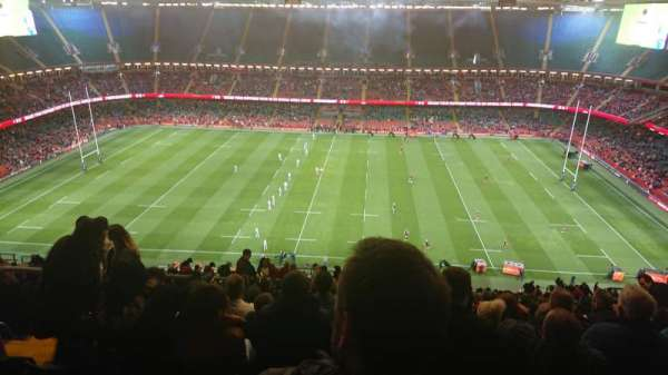 Principality Stadium, section: U8, row: 33, seat: 07