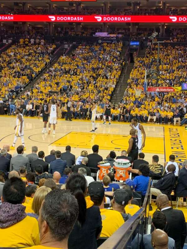 Oracle Arena, section: 127, row: 7, seat: 9