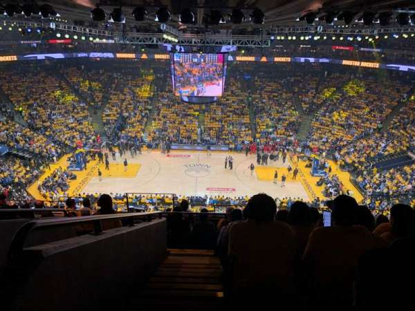 Oracle Arena, section: 216, row: 10, seat: 17