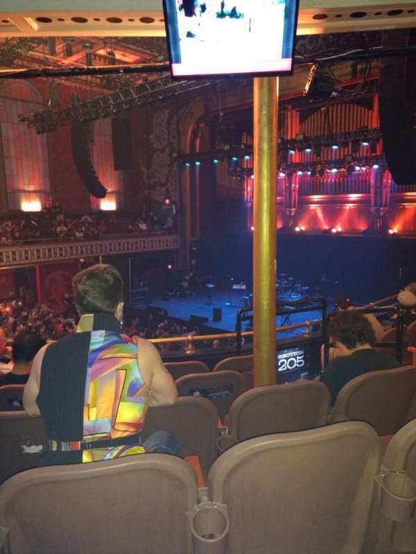 The Tabernacle, section: 203, row: F, seat: 2