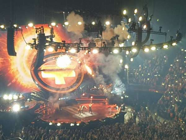 The O2 Arena, section: 407, row: R, seat: 601