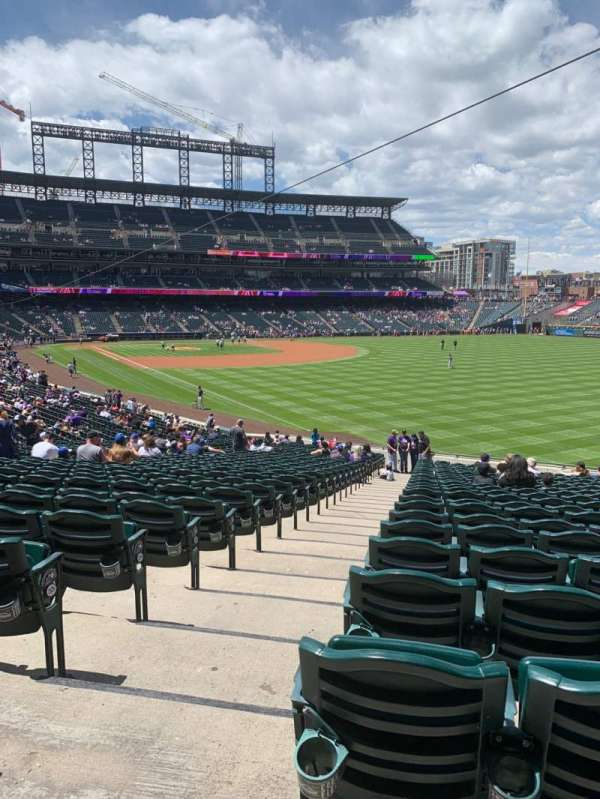 Coors Field, section: 111, row: 38, seat: 12