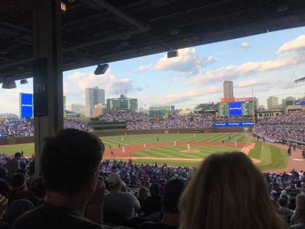Wrigley Field, section: 214, row: 11, seat: 16