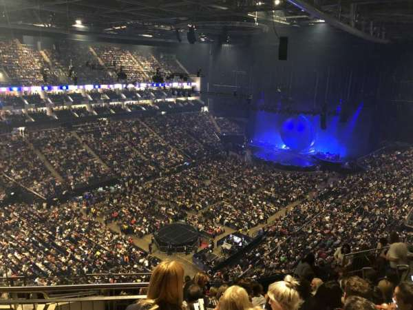 The O2 Arena, section: 415, row: L, seat: 810