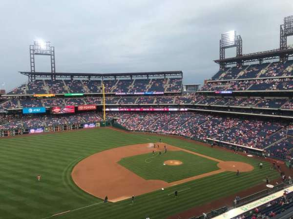 Citizens Bank Park, section: 329, row: 1, seat: 1