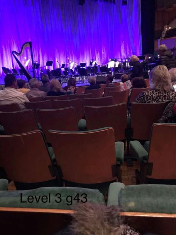 St David's Hall, section: Stalls Level 3, row: G, seat: 43