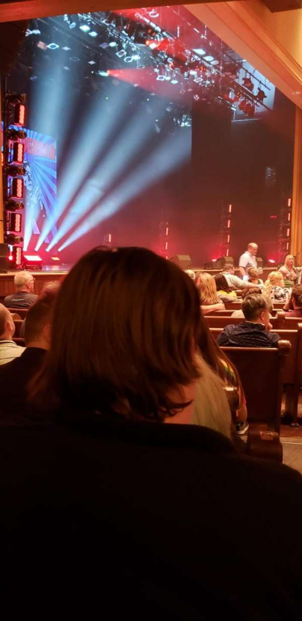 Ryman Auditorium, section: MF-8, row: P, seat: 8