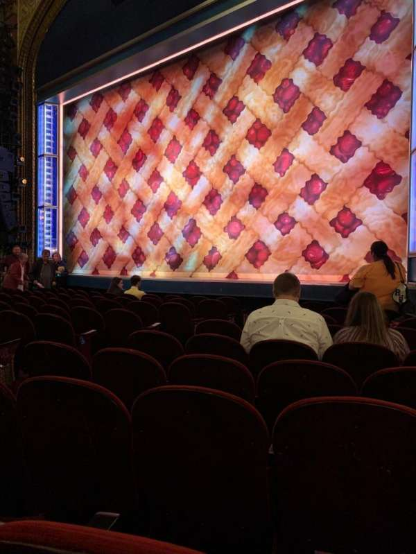 Brooks Atkinson Theatre, section: ORCHESTRA RIGHT, row: G, seat: 12