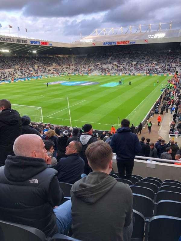 St James' Park, section: L2d, row: H, seat: 67