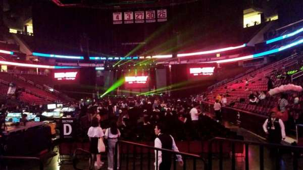 Prudential Center, section: 4F, row: F, seat: 4,5