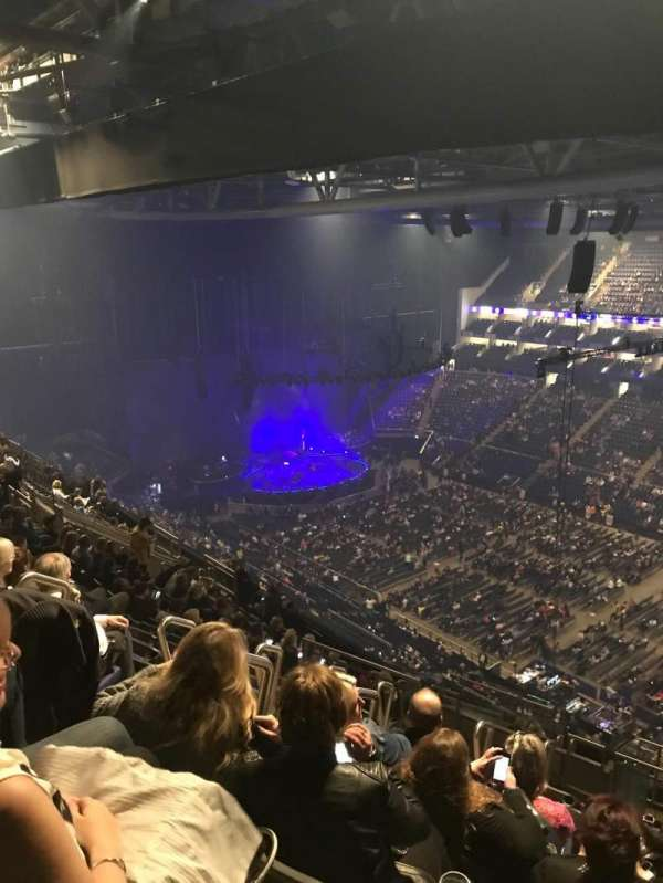 The O2 Arena, section: 406, row: Q, seat: 592