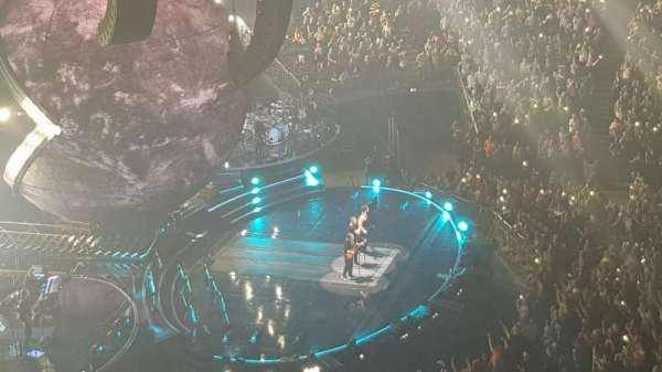 The O2 Arena, section: 402, row: B, seat: 496
