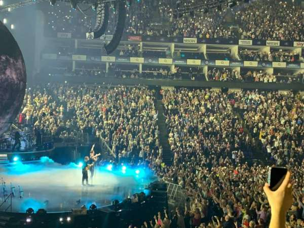 The O2 Arena, section: 101, row: N, seat: 20