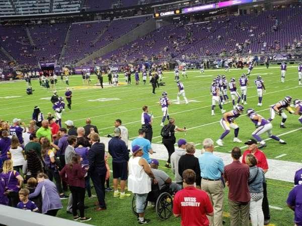 U.S. Bank Stadium, section: 127, row: 1, seat: 3