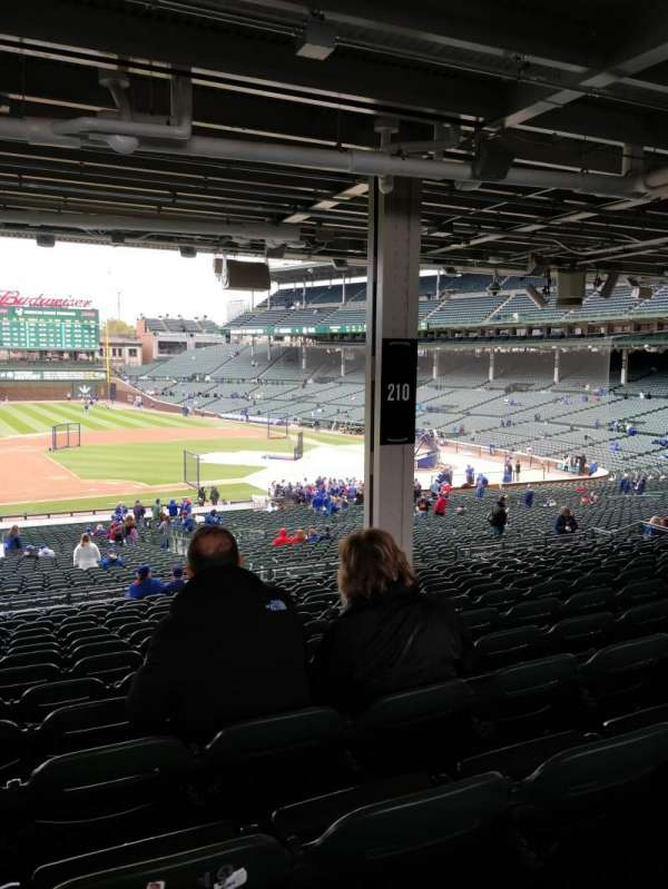 Wrigley Field, section: 210, row: 16, seat: 9-10