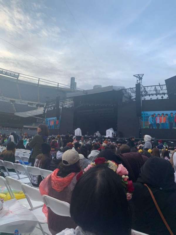 Soldier Field, section: B1, row: 10, seat: 30