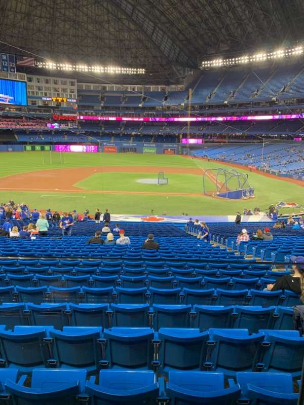 Rogers Centre, section: W126R, row: A, seat: 9