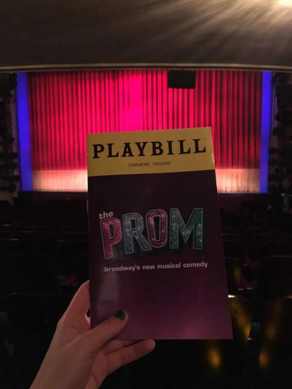 Longacre Theatre, section: Orchestra C, row: M, seat: 102