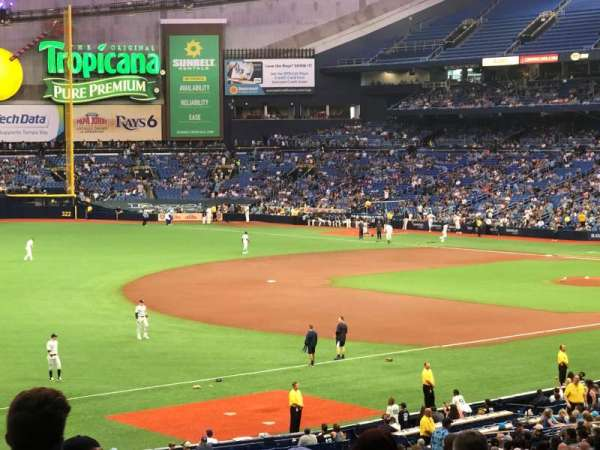 Tropicana Field, section: 132, row: SS, seat: 43