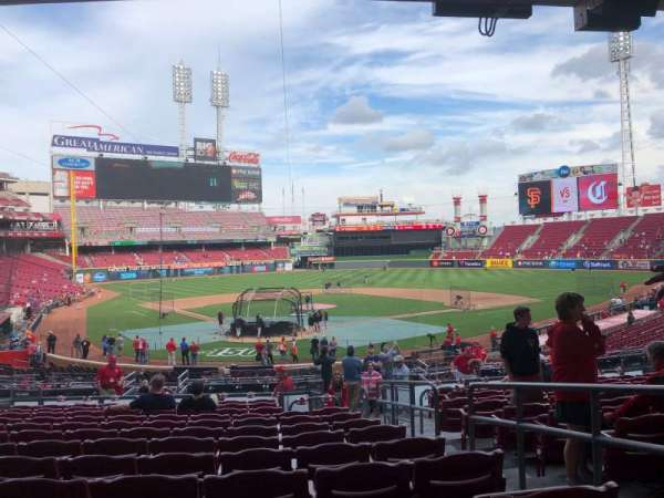 Great American Ball Park, section: 124, row: M, seat: 3
