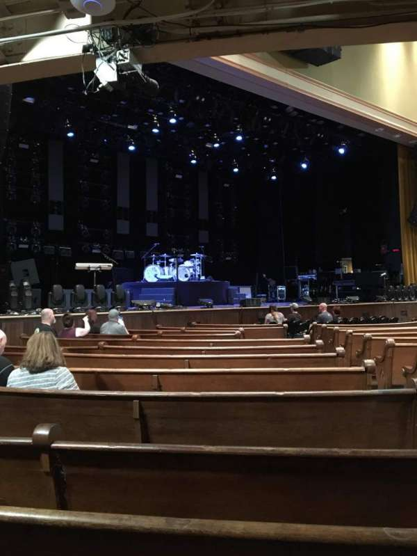 Ryman Auditorium, section: MF-7, row: P, seat: 3