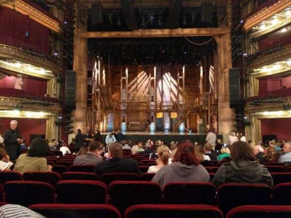 CIBC Theatre, section: ORCH-C, row: U, seat: 109