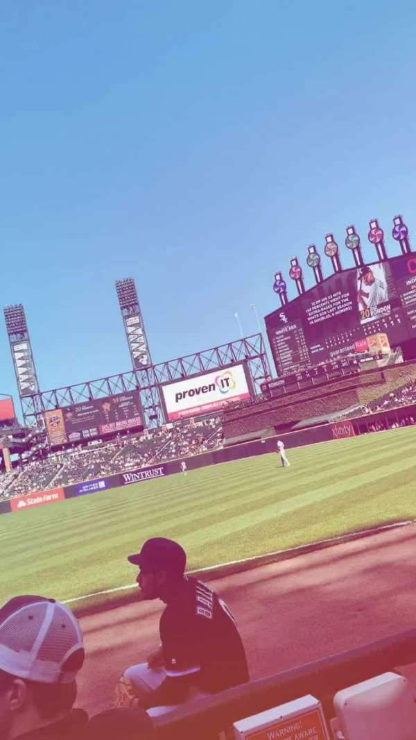 Guaranteed Rate Field, section: 116, row: 1, seat: 6
