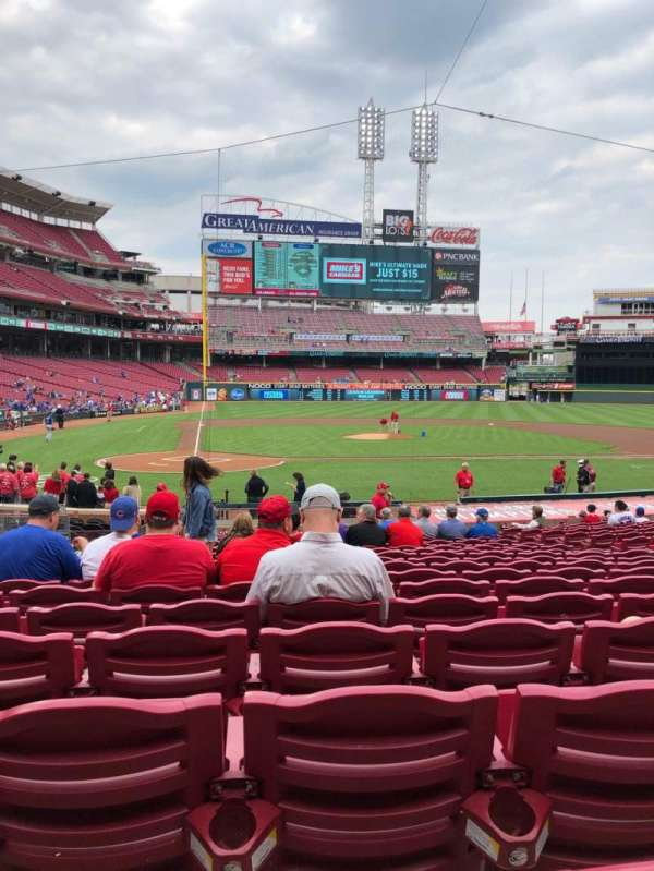 Great American Ball Park, section: 127, row: W, seat: 10
