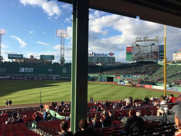 Fenway Park, section: Grandstand 11, row: 6, seat: 13-14