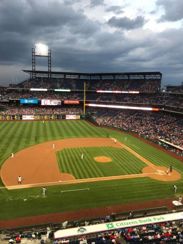 Citizens Bank Park, section: 327, row: 1, seat: 1