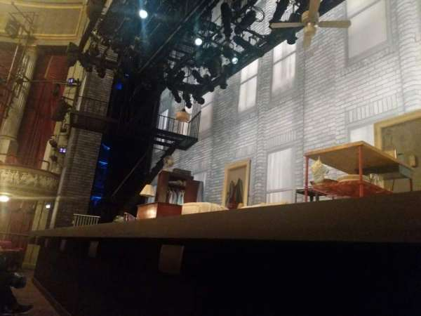 Broadhurst Theatre, section: Orchestra R, row: A, seat: 4