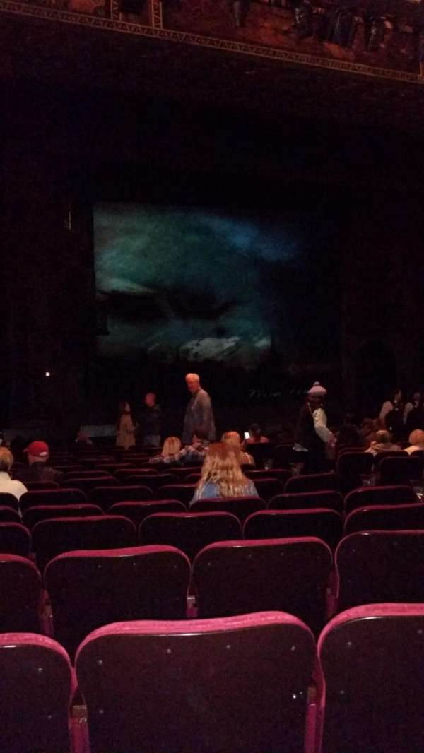 Hollywood Pantages Theatre, section: Orchestra LC, row: P, seat: 205