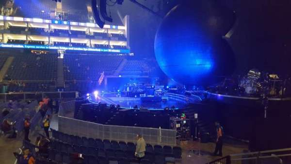 The O2 Arena, section: 112, row: H, seat: 393