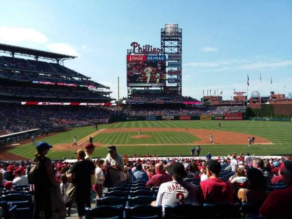 Citizens Bank Park, section: 117, row: 33, seat: 17