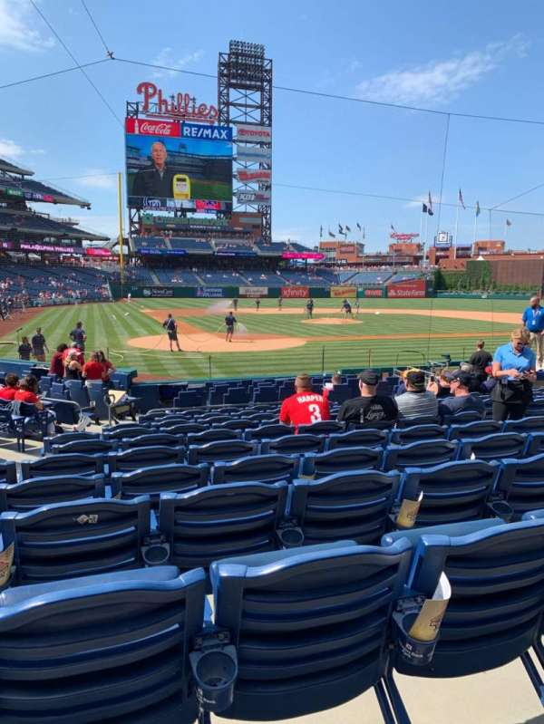 Citizens Bank Park, section: F, row: 15, seat: 8