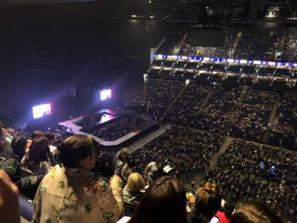 The O2 Arena, section: 405, row: K, seat: 553